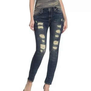 Remix-Rock Revival Midrise Ankle Skinny Jeans New